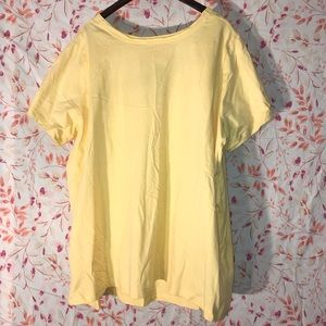 Woman Within Tops - Women's Yellow Woman Within 3X Cotton T-Shirt